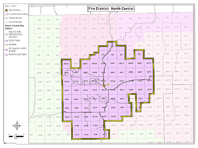 Map of North Central
